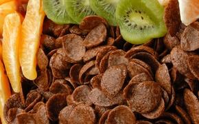 Картинка апельсин, еда, шоколад, киви, фрукты, цитрусы, десерт, food, сладкое, orange, chocolate, sweet, 1920x1080, fruits, dessert, …