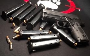 Картинка Пистолет, Патроны, Sig Sauer, Обоймы