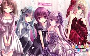 Картинка девочки, аниме, арт, misawa maho, nagatsuka saki, hakamada hinata, kashii airi, ro-kyu-bu, minato tomoka