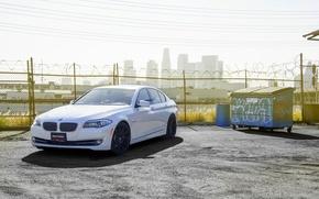 Картинка бмв, BMW, 535i, 5 серия, F10. white, XO Wheels