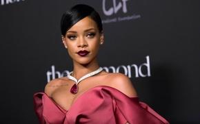Картинка портрет, макияж, Rihanna, Рианна