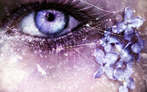 Картинка девушка, глаз, арт, фЭнтези