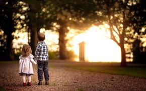 Картинка дорога, свет, дети