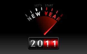 Обои new, let's start, year, 2011