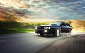 Картинка Audi, ауди, купе, чёрная, black, Coupe, Quattro, кватро, UrQuattro, Werner Burgstaller