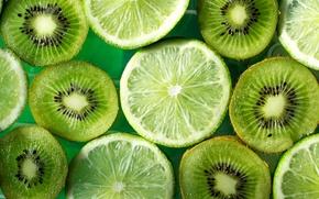 Картинка зеленый, киви, лайм, фрукты