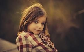 Картинка девочка, кареглазая, осенний портрет, Autumn light