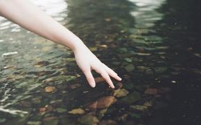 Картинка вода, женская рука, by TanjaMoss