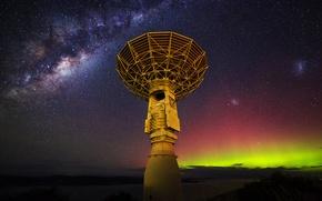 Картинка звезды, антенна, Млечный путь, радиотелескоп