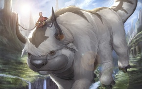 Картинка Avatar: The Last Airbender, Avatar: The Legend of Aang, aang, appa