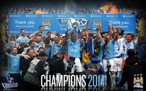 Картинка Champions, Manchester City, 2014 Premier League