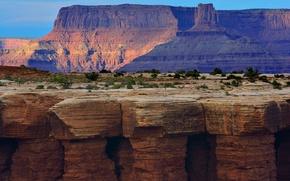 Картинка небо, горы, скалы, каньон, плато