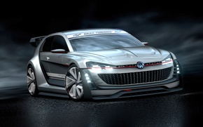 Картинка Concept, Volkswagen, Vision, GTI, фольксваген, Supersport, Gran Turismo, 2015