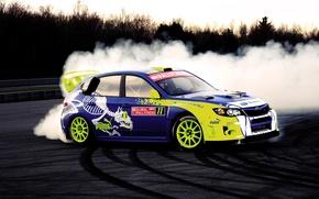 Картинка drift, subaru, impreza, puma, global rally cross