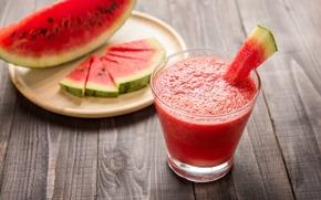 Картинка арбуз, сок, ломтики, water melon
