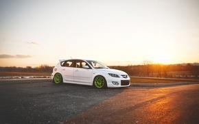 Обои Mazda 3, мазда, тюнинг, tuning, Speed, белая