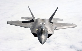 Картинка f-22, истребитель, раптор, Lockheed/Boeing, ввс сша