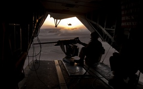 Картинка оружие, солдат, вертолёт