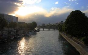 Картинка river, paris, france, sena