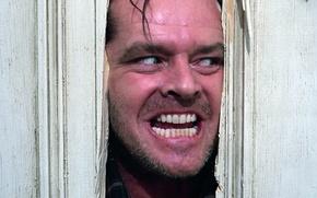 Картинка дверь, Джек Николсон, Сияние, злоба, The Shinihg