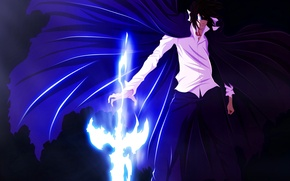 Картинка sword, game, Bleach, anime, power, katana, man, soul, spirit, asian, Kurosaki Ichigo, manga, japanese, oriental, …