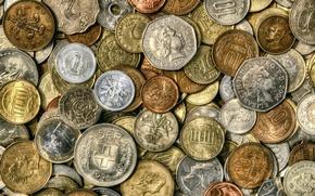 Обои деньги, монеты, мелочь