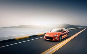 Картинка скорость, трасса, Toyota GT86