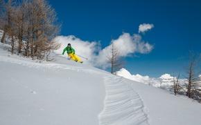 Картинка снег, горы, спорт