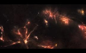 Обои звезды, туманность, пространство, свечение, созвездие