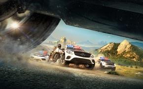 Картинка Полиция, Копы, Машины, Мотоцикл, Погоня, Ubisoft, The Crew, Ivory Tower, Calling All Units, The Crew: …