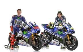 Картинка motogp, Valentino Rossi, Jorge Lorenzo, yamaha 2014