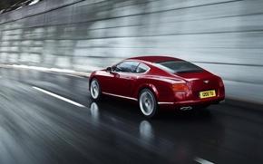 Картинка скорость, Красный, Автомобили, Bentley Continental 2012