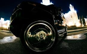 Картинка огни, колесо, хром