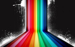 Обои цвет, радуга, брызги