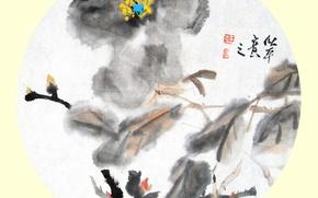 Картинка живописи, Китайской живописи, Китайской живописи тушью, Китайской традиционной живописи тушью, Пейзажная живопись