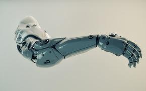 Картинка фон, рука, протез, роботехника