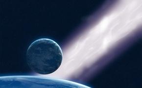 Обои планеты, космос, звезды