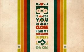 Обои стиль, музыка, узоры, краски, рисунок, colors, music, знаки, слова, style, patterns, 1920x1200, песня, signs, picture, ...