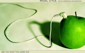 Обои стиль, музыка, apple