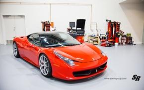 Картинка гараж, Ferrari, спорткар, 2012, феррари, 458, SR Auto Group, Factory Flush