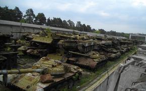 Обои свалка, Танки, Киевского казенного, ремонтно, Кладбище танков, механического, завода