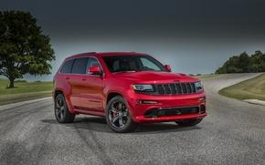 Картинка SRT, Jeep, Grand Cherokee, 2014, WK2, Red Vapor