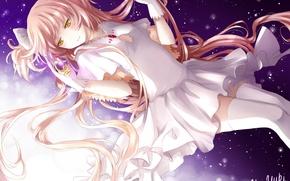 Картинка девушка, звезды, аниме, арт, mahou shoujo madoka magica, kaname madoka, девочка-волшебница мадока, ultimate madoka, yue …