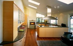 Картинка Интерьер, комната, квартира, дизайн, стиль, кухня, еда