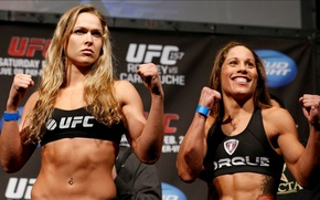Картинка girls, fight, mixed, MMA, extreme, UFC, fitness, martial arts, Ronda Rousey