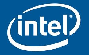 Картинка Синий, Белый, logo, Intel, Логотип, Интел