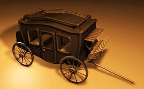 Картинка дорога, колеса, карета, путешествие, дилижанс