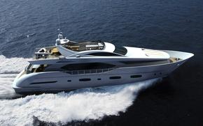 Картинка море, яхта, люкс, Electra, running, superyacht