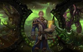 Картинка магия, игра, арт, книга, World of Warcraft, парень, заклинание, MMORPG, Legion's system specs
