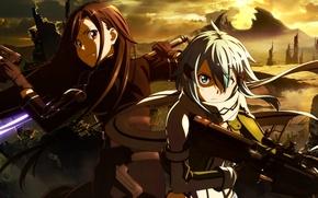 Картинка sword, gun, pistol, game, weapon, anime, ken, sniper, blade, asian, lightsaber, manga, japanese, Sword Art …